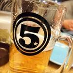 上野500バル - 生beer中ジョッキはCarlsbergだったかな。