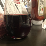 ステーキハウスナカマ - グラス赤ワイン