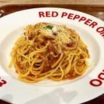 レッドペッパー - 、チーズたっぷりミートソース1,080円