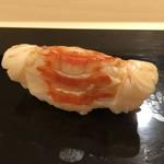 鮨 そえ島 - 車海老(大分:天然物)・・いつもより甘みを感じました、美味しい