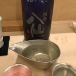 鮨 そえ島 - 陸奥 八仙(青森)・・サラッとした口当たりで飲みやすい。