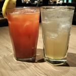 鳥良 大宮 - トマトサワー&梅酒ジンジャー