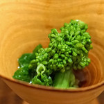 東白庵かりべ - 菜の花のおひたし