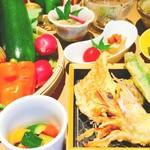 野菜酒場 天ぷら白金 - 天ぷらと新鮮野菜