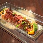 ブルーノート東京 - アワビ、ウニ、サーモン、キャビア 海のサラダ仕立て