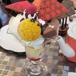 99553184 - 洋梨とチョコレートのパフェ