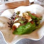 9956091 - 地野菜サラダ、バジルドレッシング