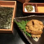 99562417 - ウニの新海苔刺し@1500円                       普通に美味しかった(^^)