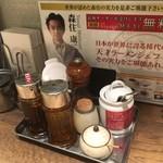 ちゃぶとん - 卓上の調味料と・・・(^^;)