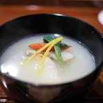 津の守坂 小柴 - くえの白味噌椀