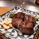 OSAKA きっちん - 和牛の鉄板焼き✨✨おー、ちゃんと和牛を使うとは!Σ( ̄□ ̄;)