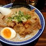 麺家 くさび - 排肉豚骨醤油麺(201809)