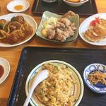あじへい - 料理写真:チャーハン、餃子、唐揚げ、酢豚