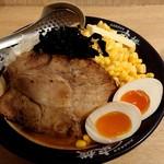 東横 - スペシャル特製野菜味噌チャーシューメン(1300円)
