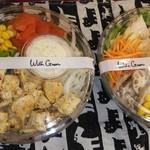 ウィズグリーン - ハーブチキンと彩り野菜のサラダと蒸し鶏とリンゴのサラダ