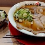 優味麺亭 やまどり - チャーシューワンタン麺+ライス(ほぐし乗せ)(201812)