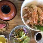 くるまえびキッチンTAMAYA - 海老天丼のセット