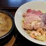 99574313 - 【(限定) オマール海老のドロつけ麺 + 煮玉子】¥1000 + ¥100