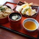 まるまつ - 料理写真:天ざる(\698税抜き)