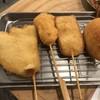 串カツ田中 - 料理写真:串カツ豚  玉ねぎ  ハムカツ  きす