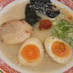 ラー麺 ずんどう屋 - 料理写真:とんこつLIGHT屋台味 玉子(一玉のせ) 850円