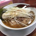 まぐろラーメン大門 - 料理写真:ネギ醤油(まぐろラーメン)