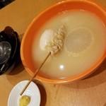 八重洲居酒場商店 - おでん(大根128円/玉子128円/ポンポチ148円)