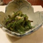 きじ亭 - 山菜(わらびの水炊き)
