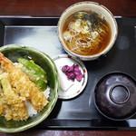 旬彩茶屋夢花 - 天丼夢セット+ミニそば