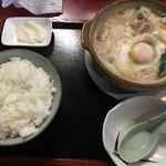 まんぷく食堂 - 料理写真:ホルモン鍋定食(850円)