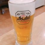 虎坊 - 生ビール(580円)【平成30年12月26日撮影】