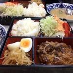 レストランばーく - Bセット(ハンバーグ)デミソース