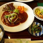 あ・ら・伊達なレストラン - おからハンバーグ定食(800円)