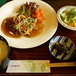 あ・ら・伊達なレストラン - 豆腐ハンバーグ定食(800円)