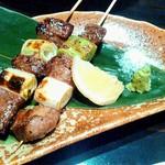 手作り料理と地酒 おと - 厳選牛串焼き