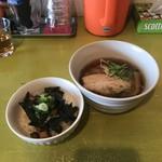 中華そば Ryo - 鶏そば(ミニ)+豚チャーシュー丼(小)