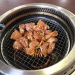 藤ヶ丘食堂 - とり焼き(若)焼き中