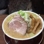 げんちゃんらーめん - 2019年1月。野菜みそラーメン750円+メンマ120円。