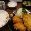 とき和 - 料理写真:一口ヒレカツ、アジフライ定食 950円