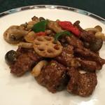 99607195 - 牛肉と野菜のXO醬炒め