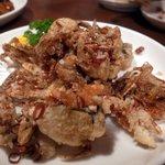 唐朝刀削麺 - ソフトシェルクラブの山椒風味