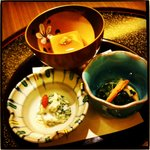Nihonryourisetouchi - 菱コースの前菜。ヘルシーでおいしい。