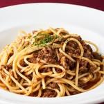 和牛すね肉の煮込みソーススパゲッティ