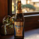 小淵沢 井筒屋 - 2019.1 ビール中瓶(730円)サントリープレミアムモルツ