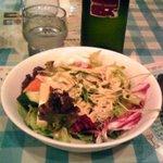 bistroクスクス - らーめんとセットのサラダ+水