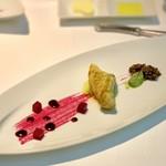 レストラン・ブリーズ・ヴェール - パセリと生姜風味の的鯛 ビーツ香る赤ワインソース