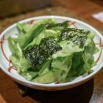 松庵 - ☆韓国のりサラダ 680円