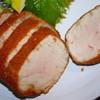 とんかつ青柳 - 料理写真:ロース M 4400円 断面 肉は超柔らか