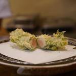 てんぷら ひら井 - 川俣軍鶏ササミ
