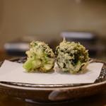 てんぷら ひら井 - 福島産ブロッコリー